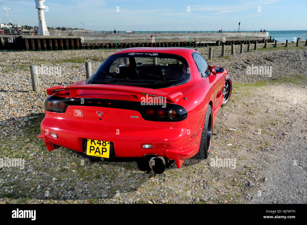 1992 Mazda RX7 Modified And Tuned Japanese Sports Car, Fitted With A Wankel  Rotary Engine
