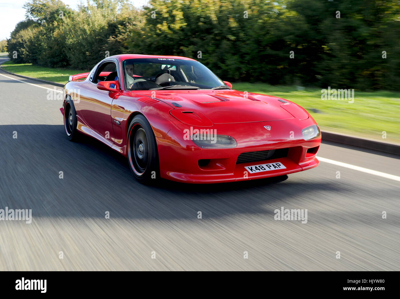 1992 Mazda Rx7 Engine Modified And Tuned Japanese Sports Car Fitted With A Wankel Rotary