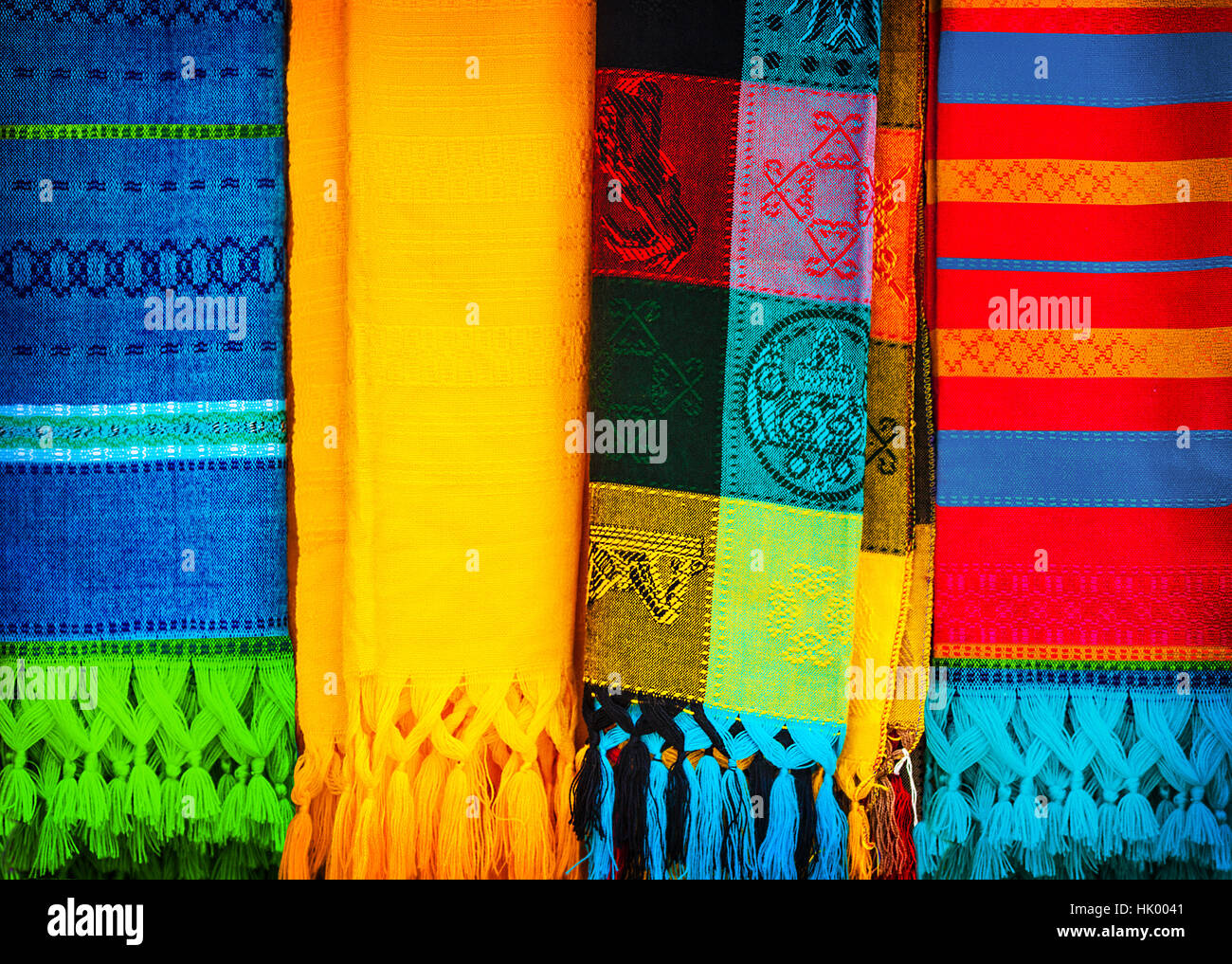 Blanket Traditional Mexican Handmade Colorful Cloth Indian Culture