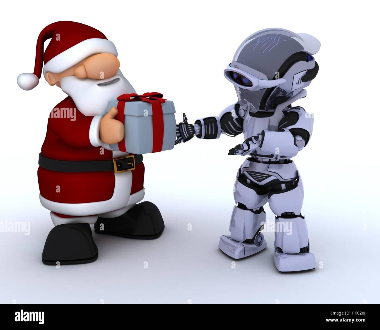 modern, modernity, electronics, future, hat, father christmas, gift ...