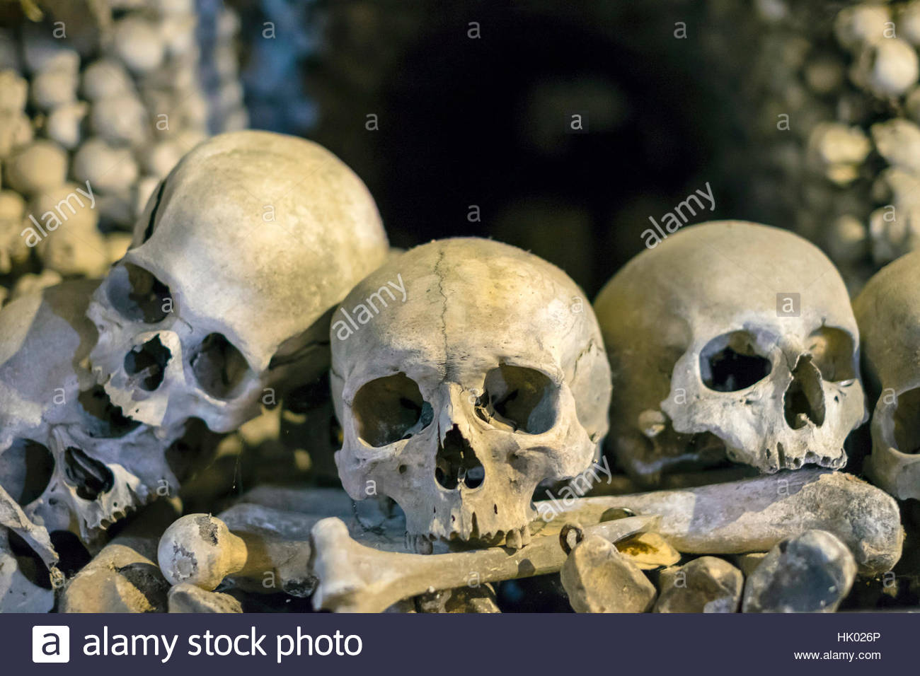 Czech Republic, Central Bohemian Region, Kutná Hora. Sedlec Ossuary (Czech: Kostnice v Sedlci), bone church. - Stock Image