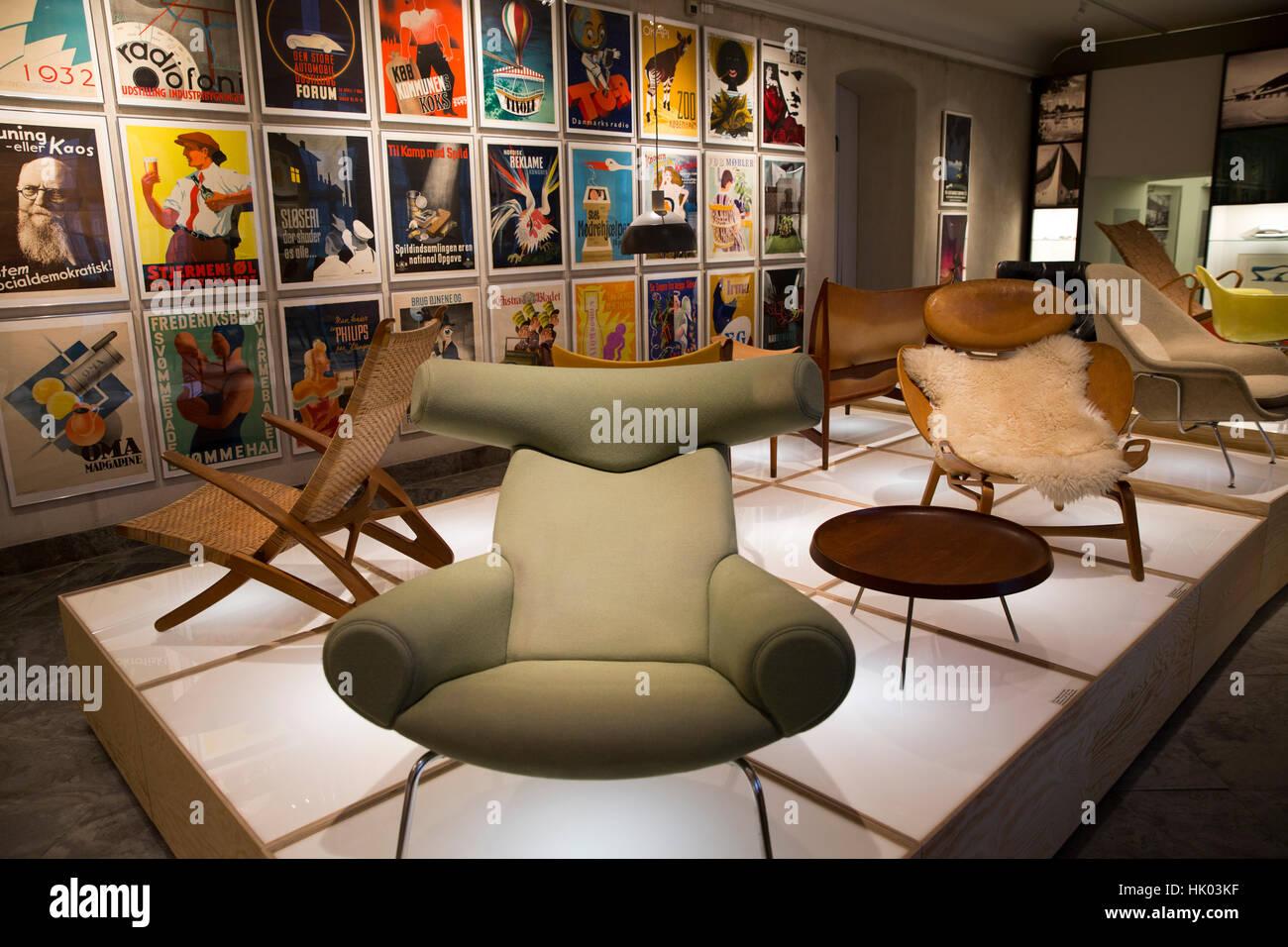 denmark copenhagen bredgade design museum interior 20th century stock photo 132153939 alamy. Black Bedroom Furniture Sets. Home Design Ideas