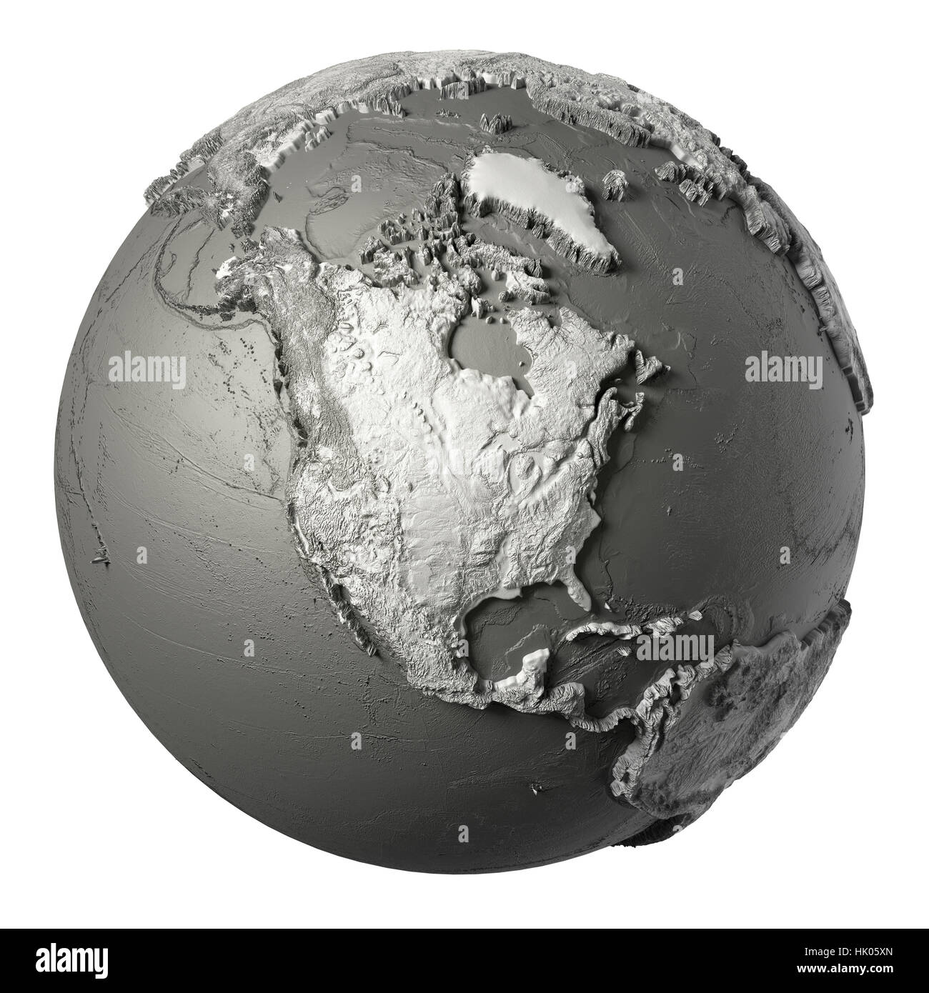Globe model with detailed topography without water north america globe model with detailed topography without water north america 3d rendering isolated on white background elements of this image furnished by nasa publicscrutiny Choice Image