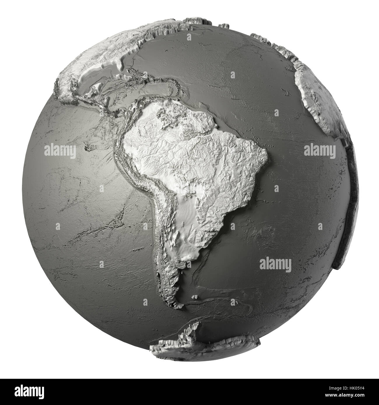 Globe model with detailed topography without water south america globe model with detailed topography without water south america 3d rendering isolated on white background elements of this image furnished by nasa publicscrutiny Choice Image