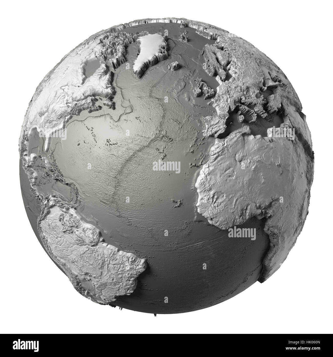 Globe model with detailed topography without water atlantic ocean globe model with detailed topography without water atlantic ocean 3d render isolated on white elements of this image furnished by nas publicscrutiny Choice Image