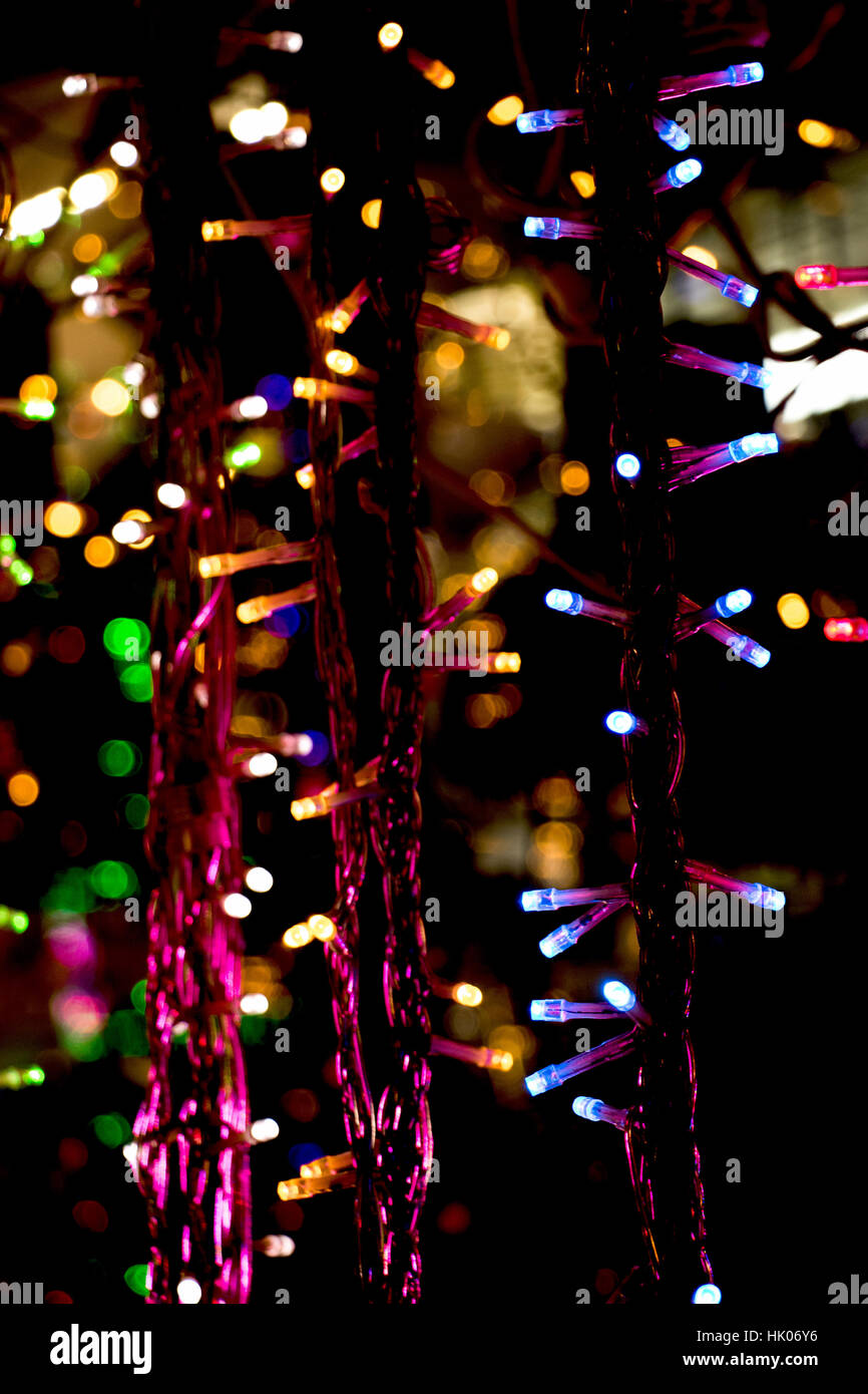 Christmas Lights And Party Lights Of A Certain Type Stock