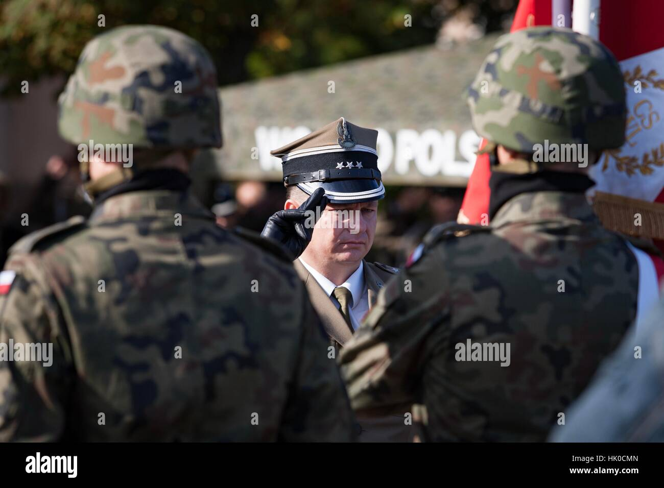 Poznan, Poland - September 29, 2012 Land Forces Training Centre in Poznan. Open day inaugurating the new academic year. Stock Photo