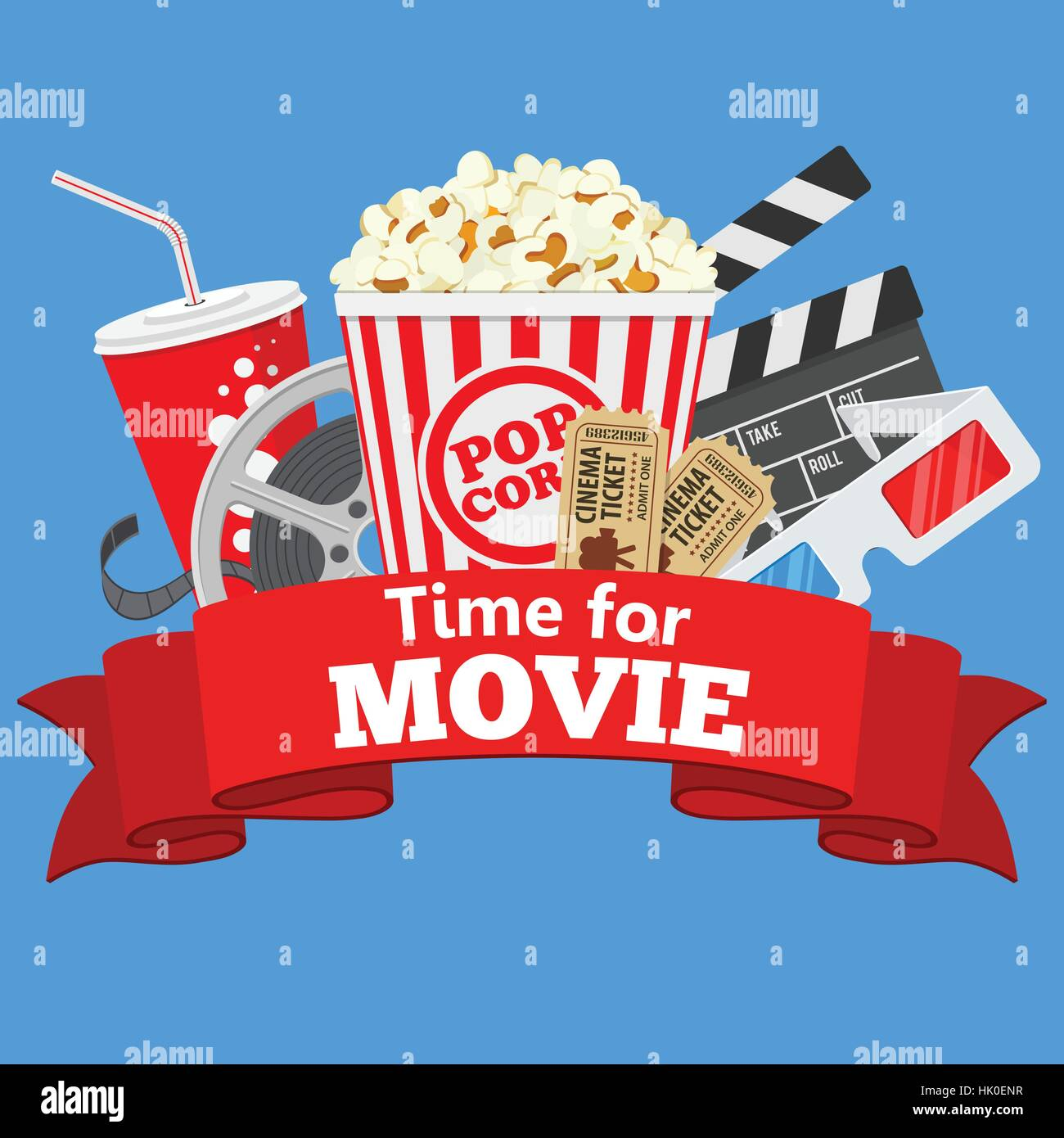 Movie time wallpaper Vector Image - 1804982   StockUnlimited