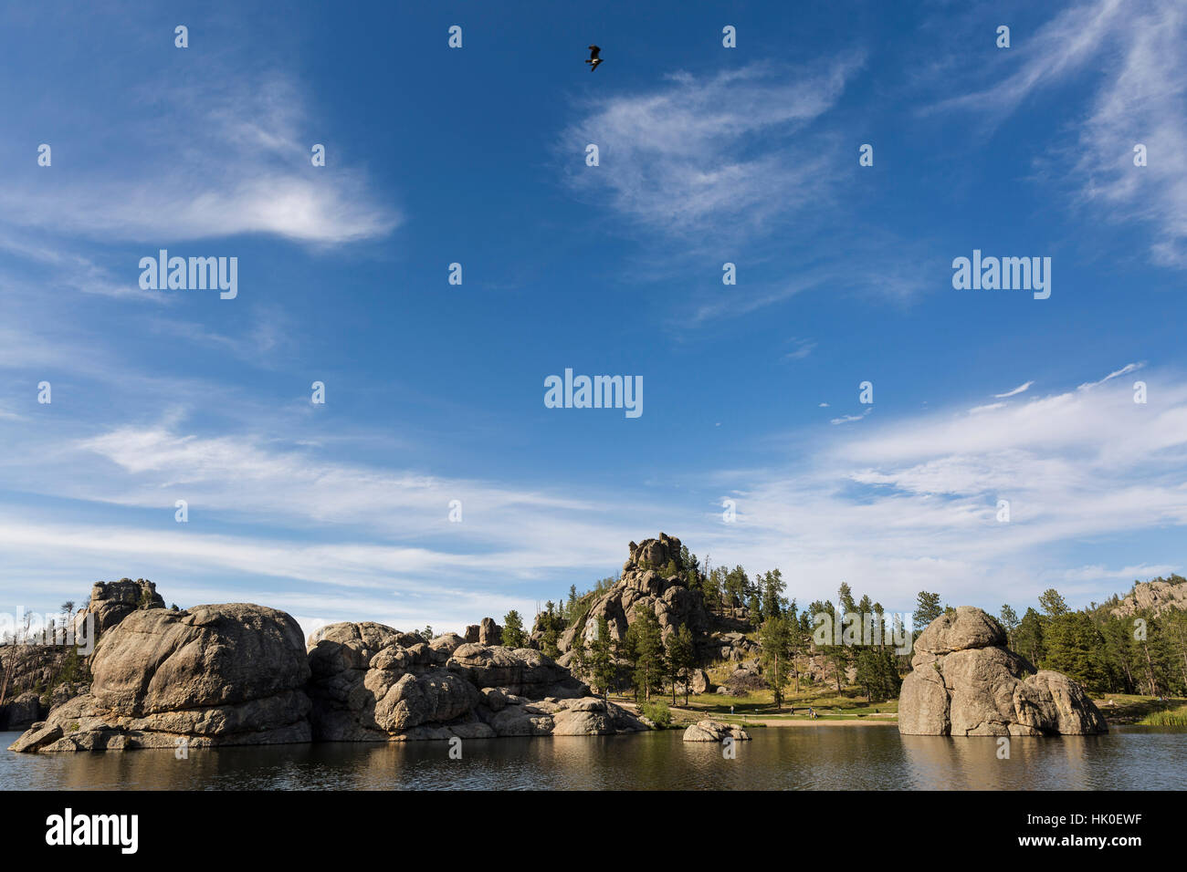 Sylvan Lake. Sept, 2016. Custer State Park, South Dakota, USA - Stock Image