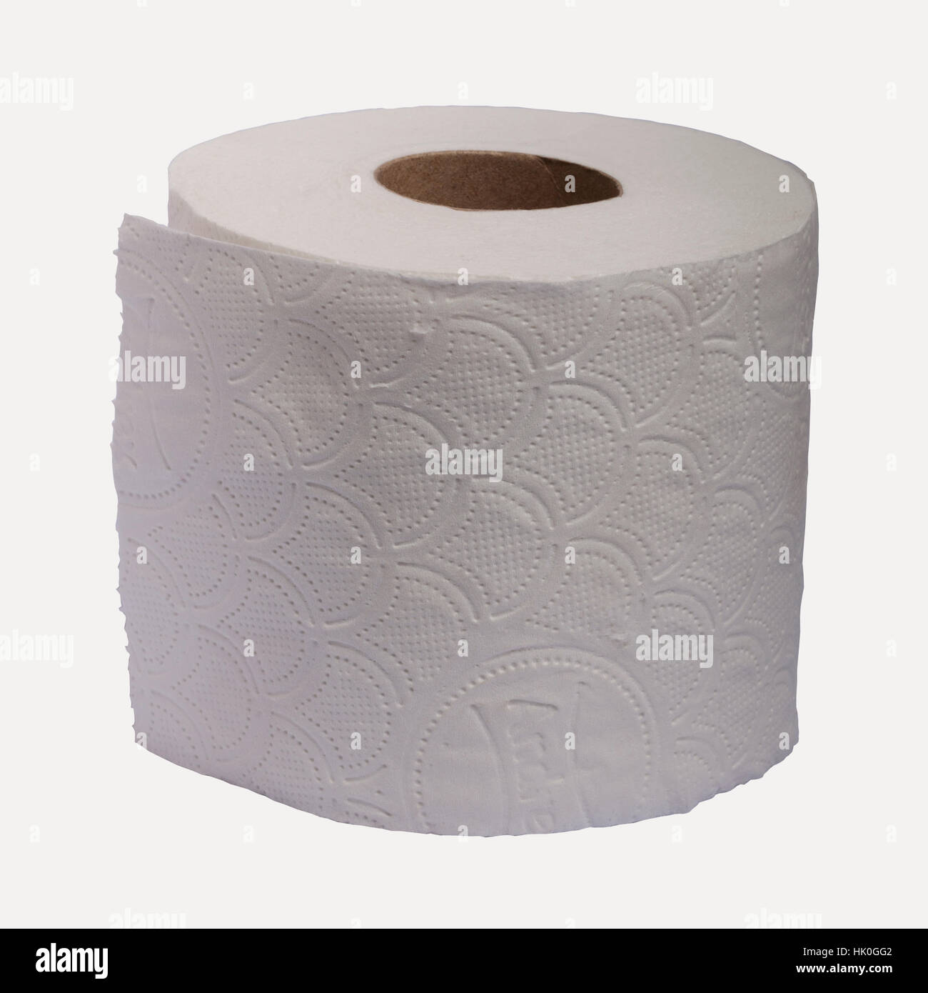 An Andrex quilts toilet roll on a white background - Stock Image
