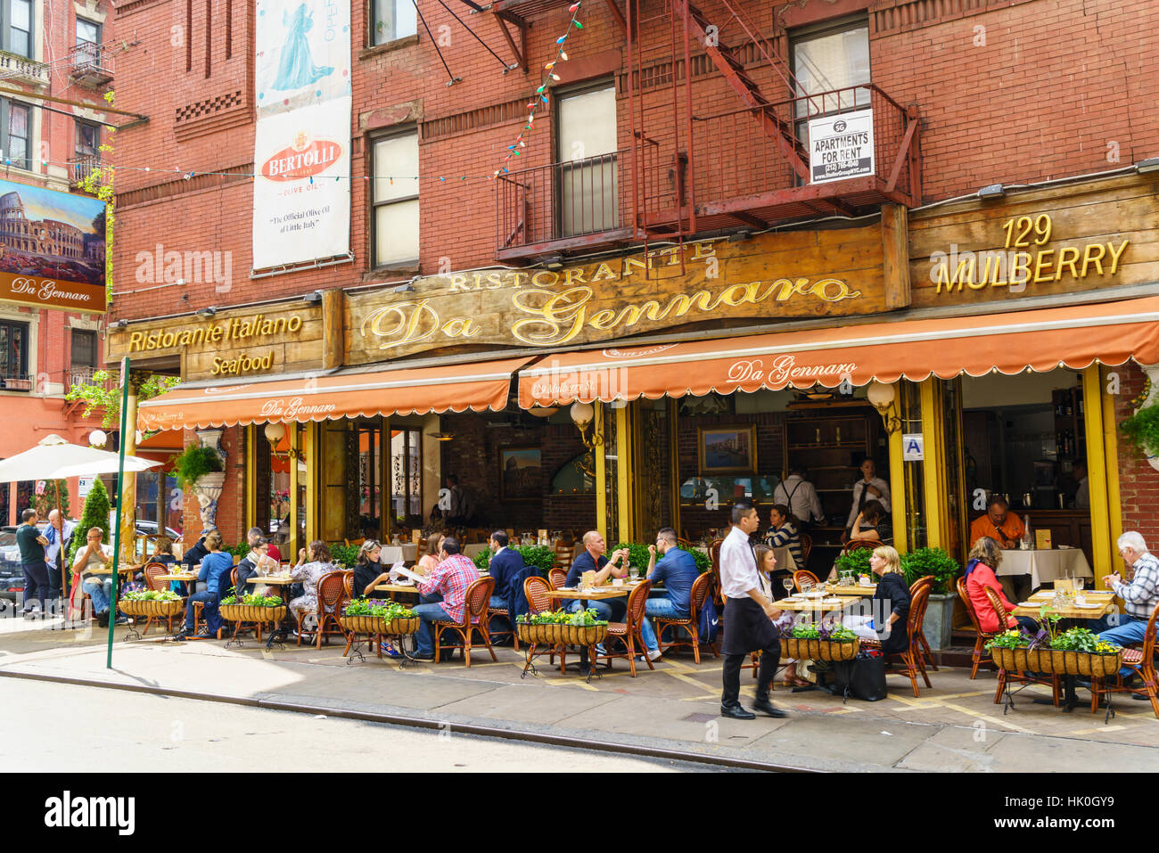 Italian Restaurant In Little Italy Manhattan New York City
