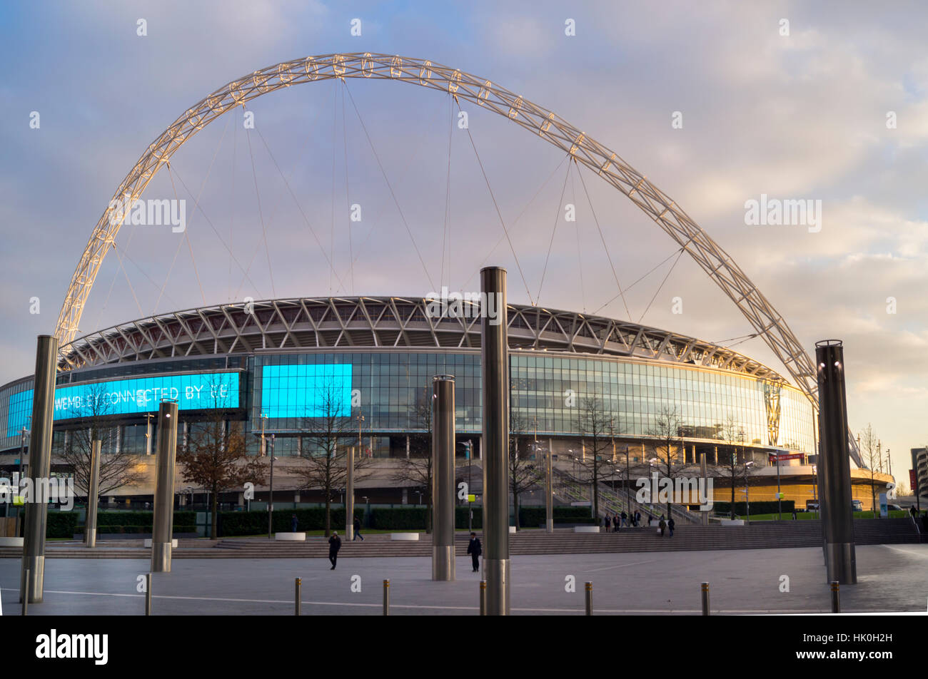 Wembley Stadium Arch, London, England, United Kingdom - Stock Image