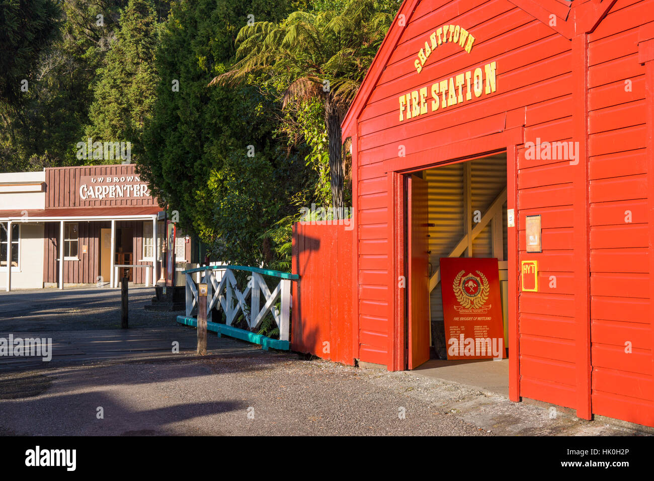 Historic building evoking the west coast's gold-mining past, Shantytown, Greymouth, Grey district, West Coast, - Stock Image