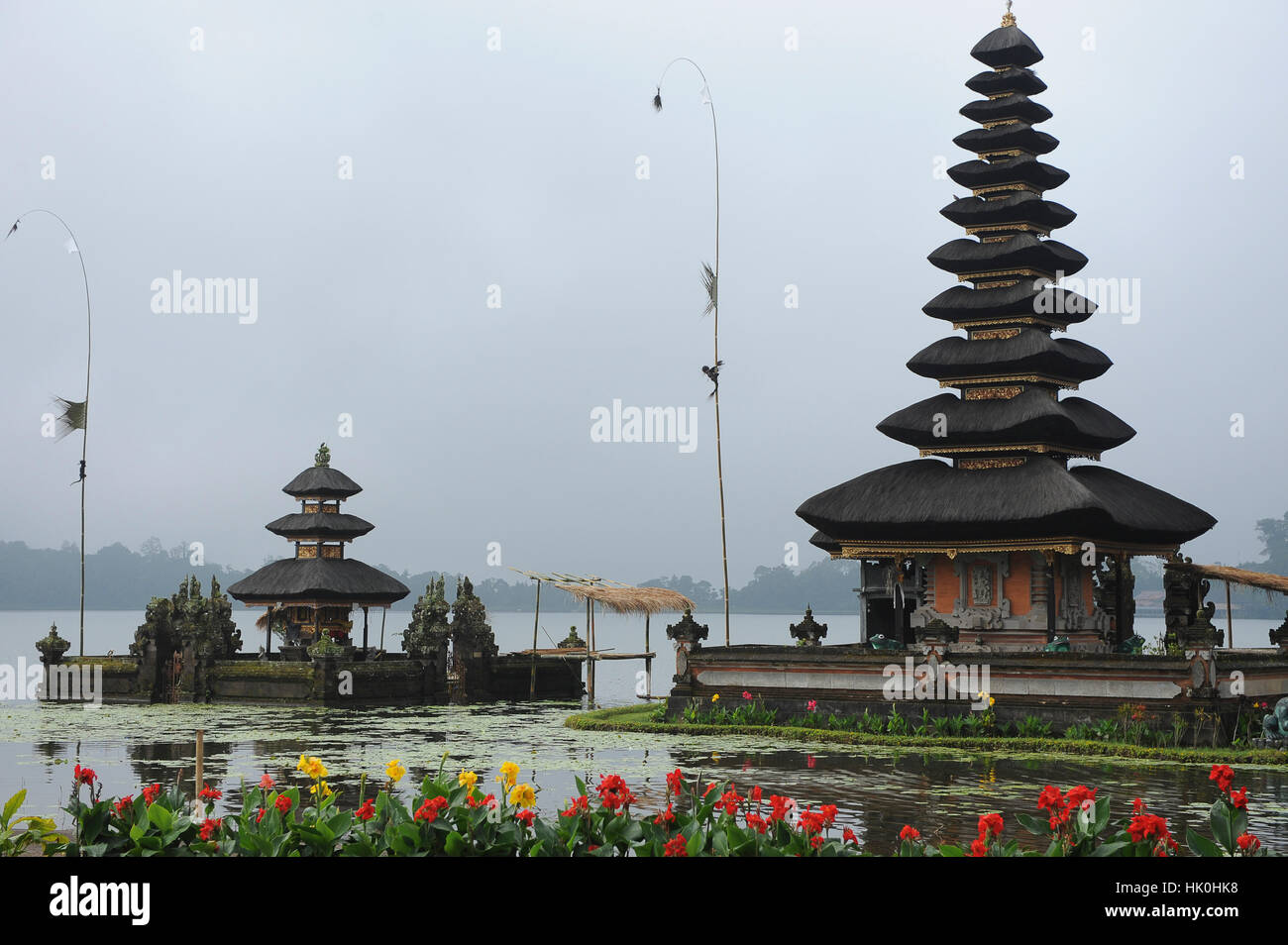 Indonesia Bali Bedugul The Temple Of Ulun Danu Is Located On