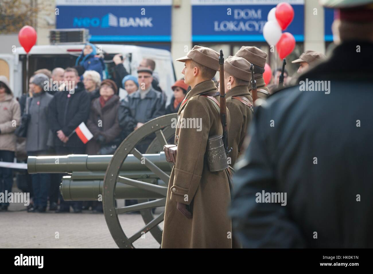 Poznan, Poland - November 11, 2012 Independence Day, a national holiday in Poland. Established in 1937 and restored - Stock Image