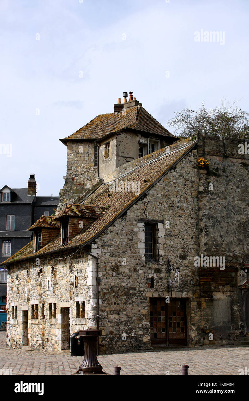 historical, france, fortress, bastion, normandy, chateau, castle, tower, - Stock Image