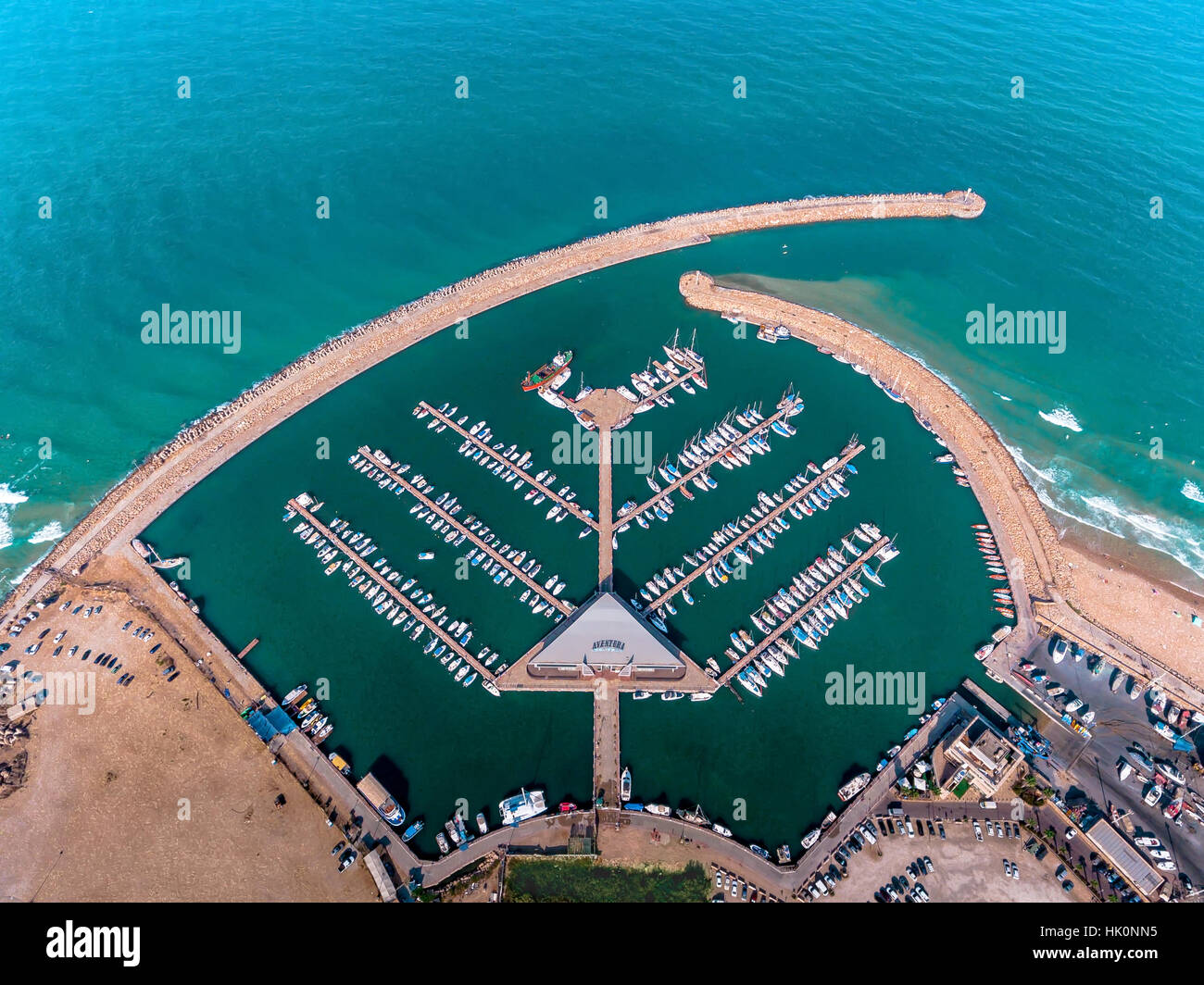 Ashdod Marina: The Marina Yacht Port In Ashdod Stock Photo: 132168097