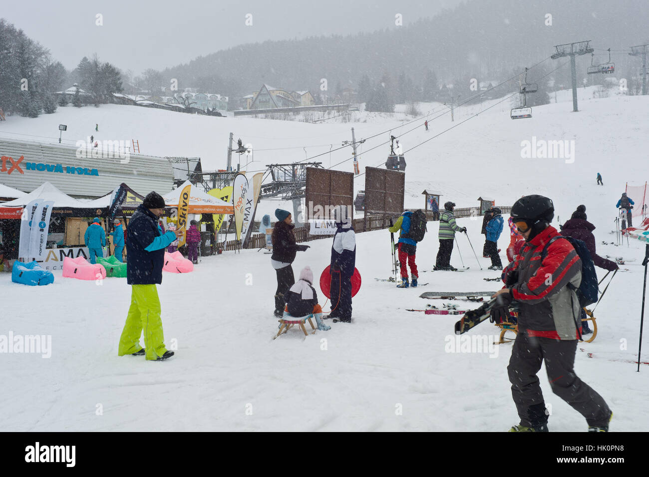 Donovaley Ski resort in Mala Fatra National Park Slovakia. - Stock Image