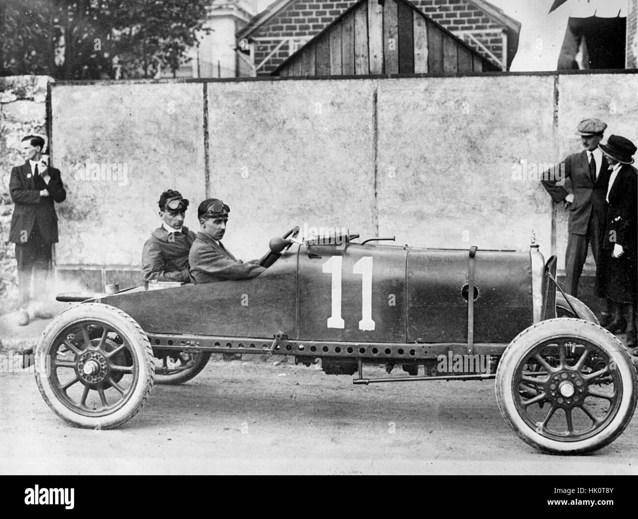Alvis, Harvey. 1921 Grand Prix des Voiturettes Le Mans - Stock Image