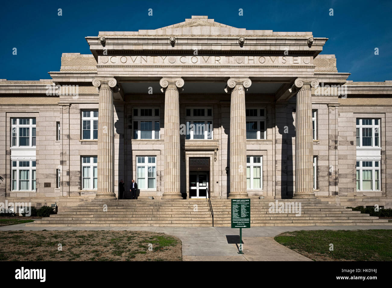 Rowan County Courthouse. Salisbury, NC  district 19c - Stock Image
