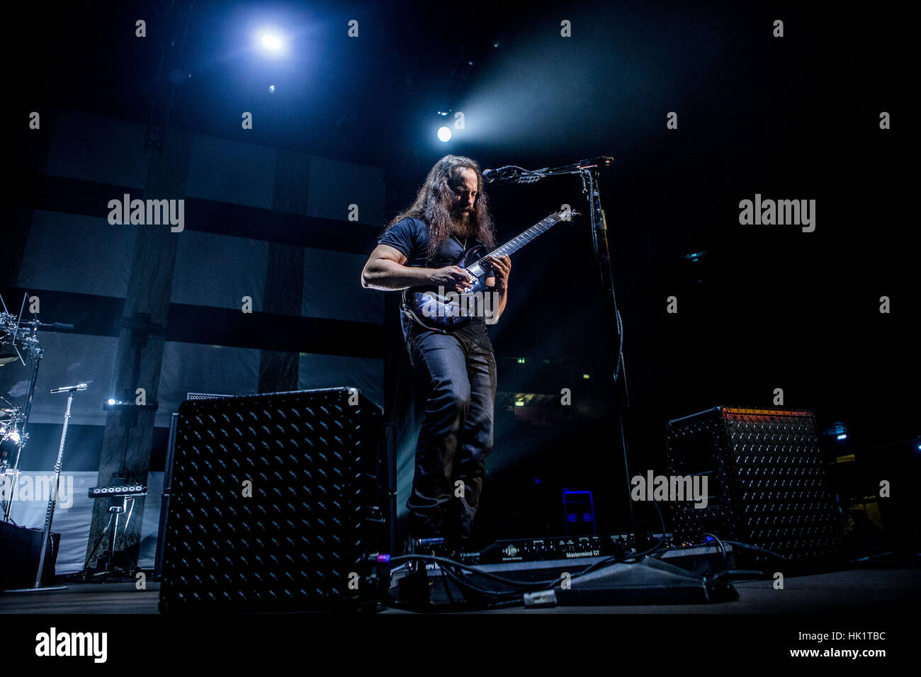 Milan, Italy. 4th Feb, 2017. Progressive metal band Dream Theater performs live at Mediolanum Forum in Milan, Italy. - Stock Image