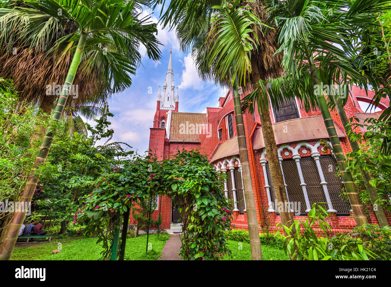 St. Mary's Cathedral in Yangon, Myanmar. - Stock Image