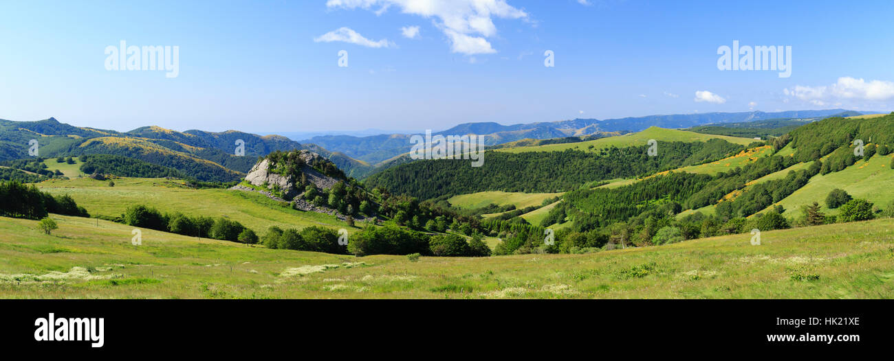 Ardeche Mountain, Lachamp Raphael, Regional natural reserve of the Mounts of Ardeche (Ardeche, France) - Stock Image