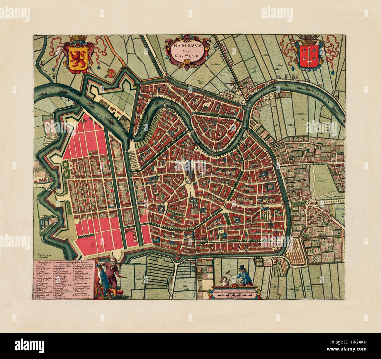 Map Of Haarlem 1695 Stock Photo: 132198631 - Alamy