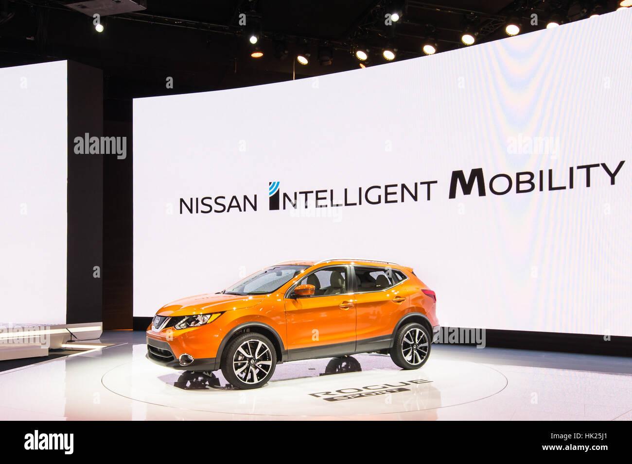2017 Nissan Rogue Sport (Qashqai) SUV at the North American International Auto Show (NAIAS). - Stock Image