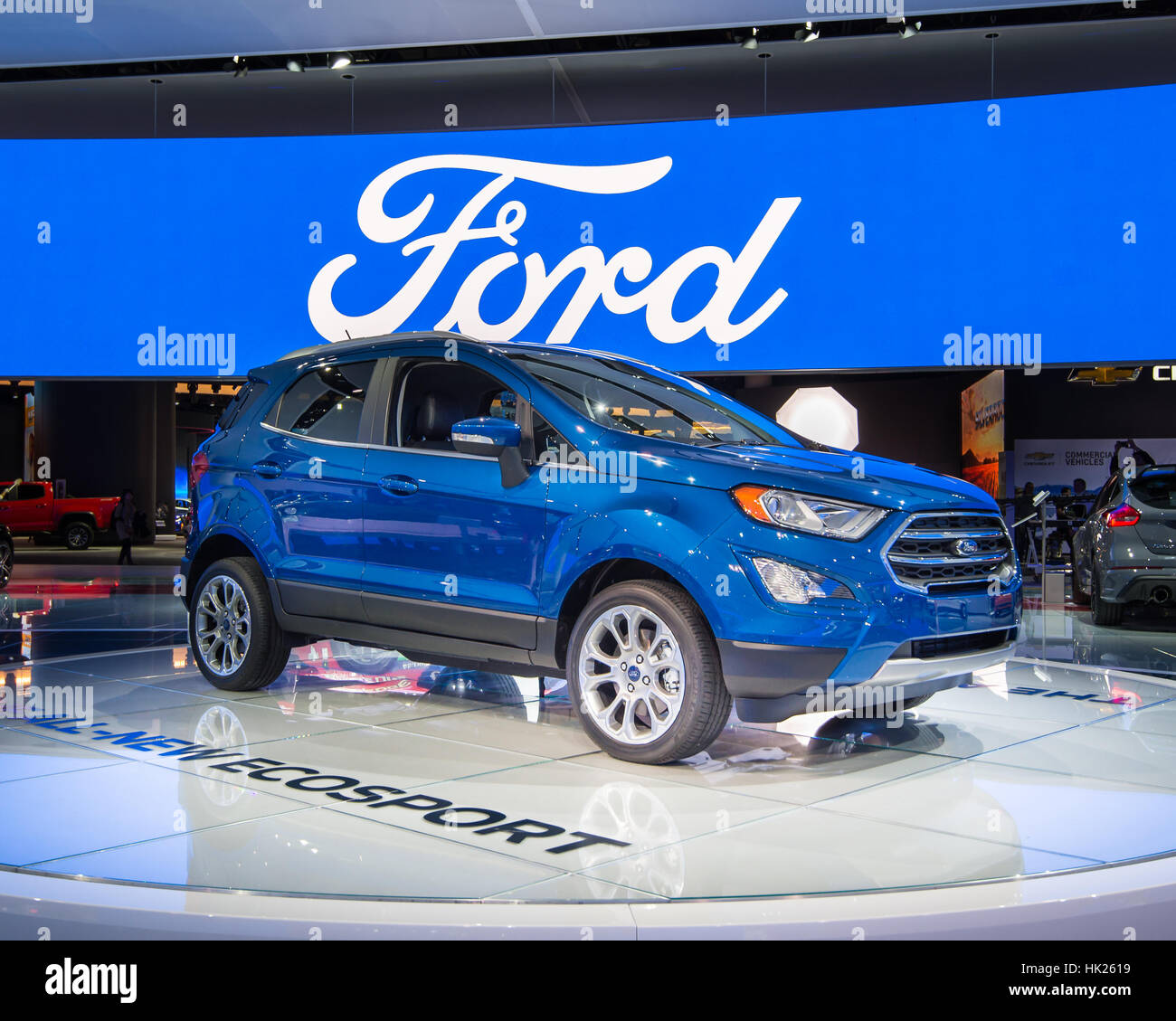 2018 Ford EcoSport SUV At The North American International