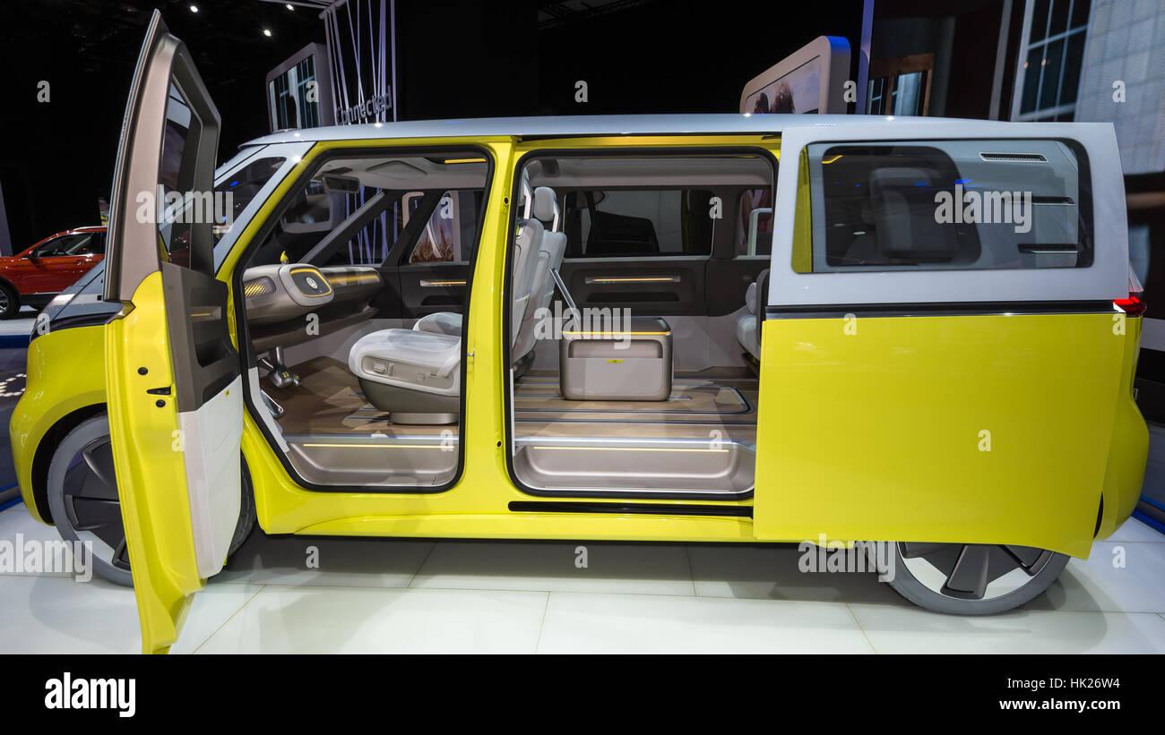 a volkswagen i d buzz concept car at the north american. Black Bedroom Furniture Sets. Home Design Ideas