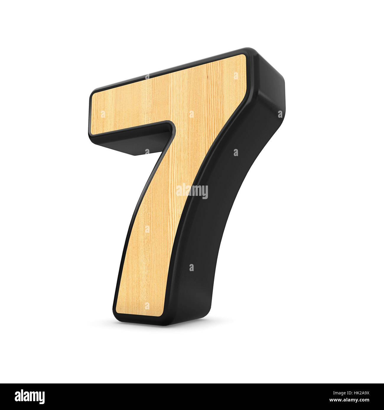 3d Wood Material Number Seven Stock Photos & 3d Wood Material Number
