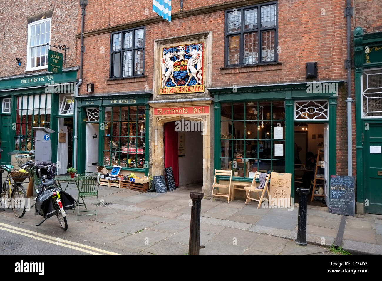 Street Entrance to Merchants Hall York City England UK United Kingdom Europe - Stock Image