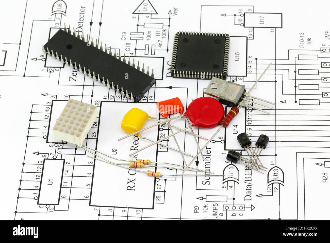 With Integrated Radio Stock Photos Circuit Diagram Nokia 1600 Science Technology Capacitor Transistor