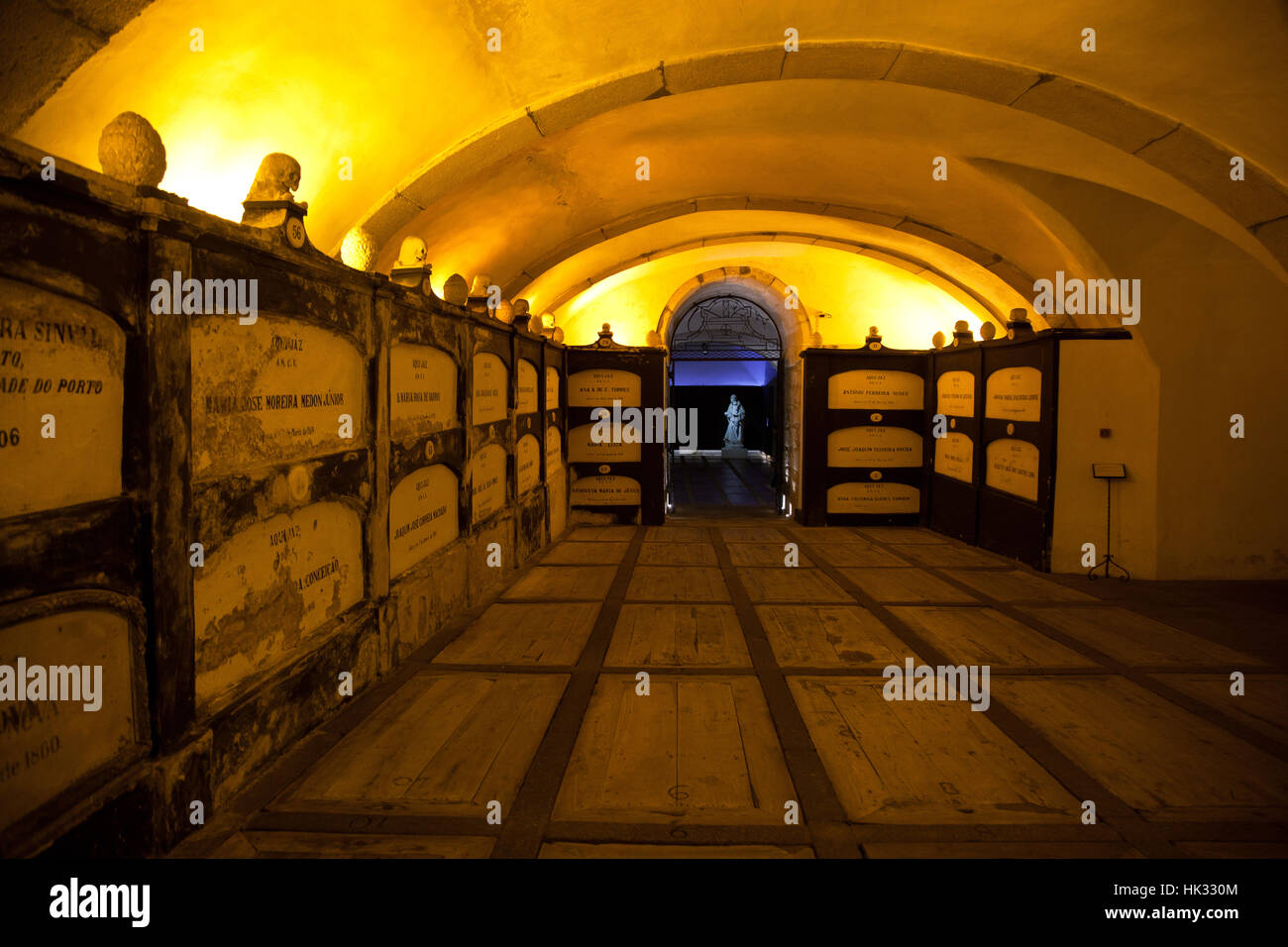 Catacombs of Sao Francisco chuech in Porto, Portugal - Stock Image