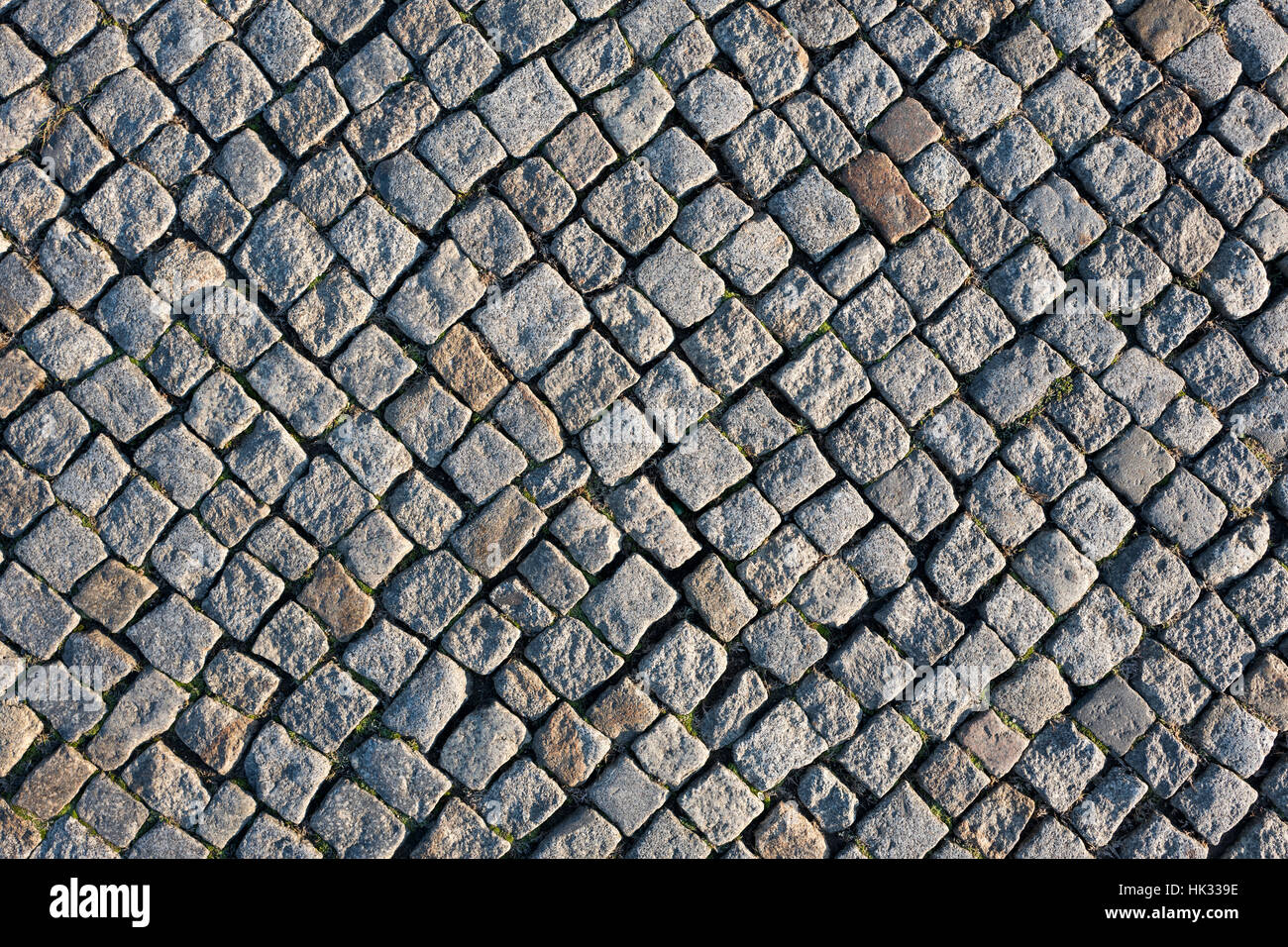 cobblestone pavement for background use - Stock Image