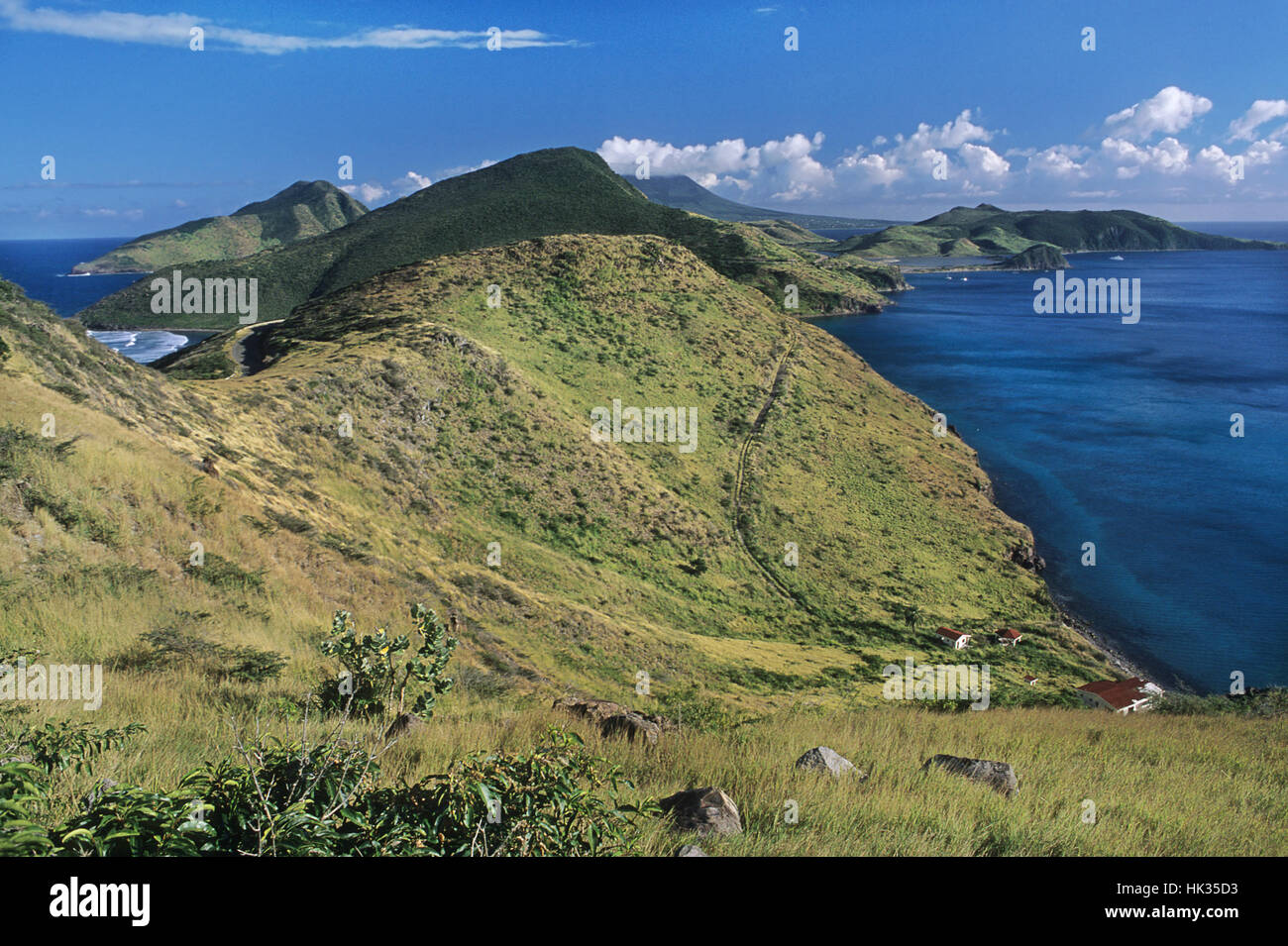View of Turtle Bay, St. Kitts and Nevis, Caribbean - Stock Image