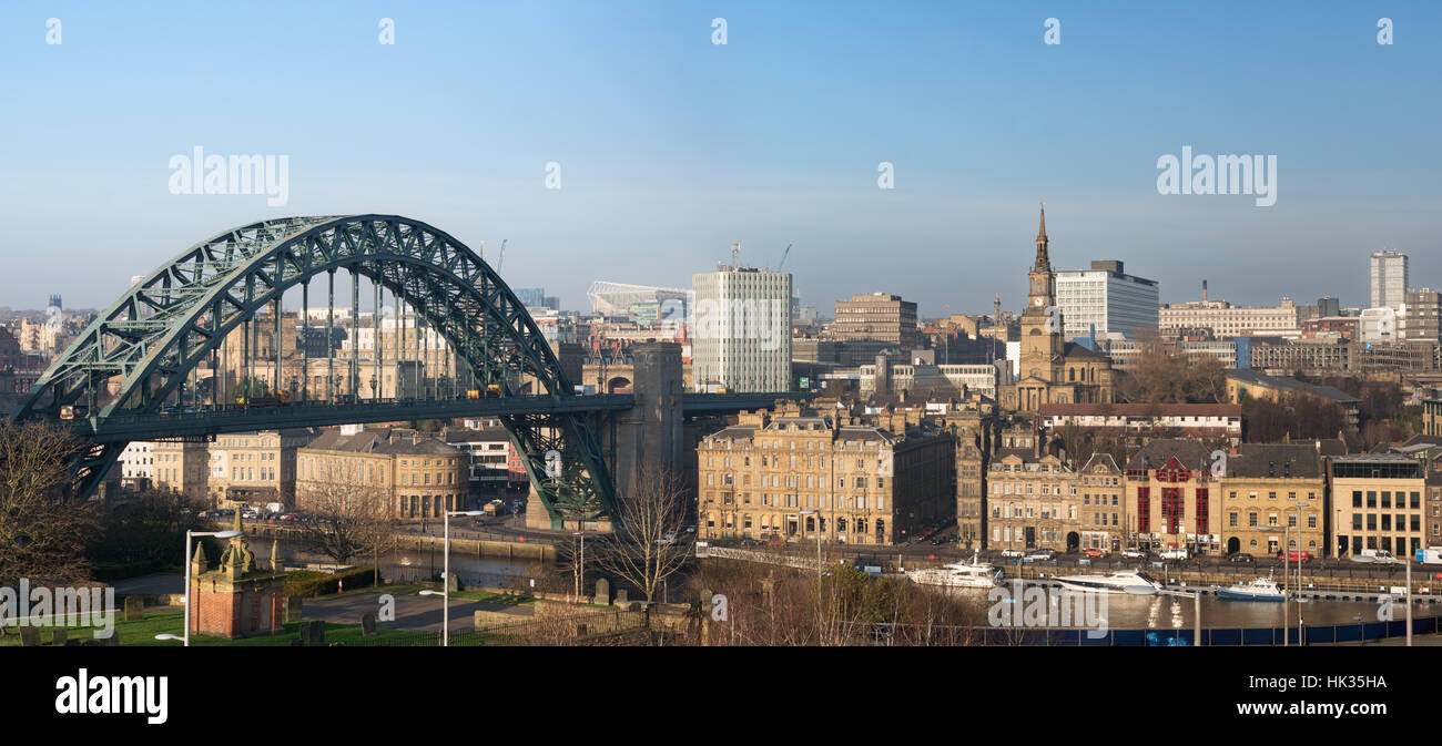Newcastle upon Tyne cityscape. north east England, UK Stock Photo