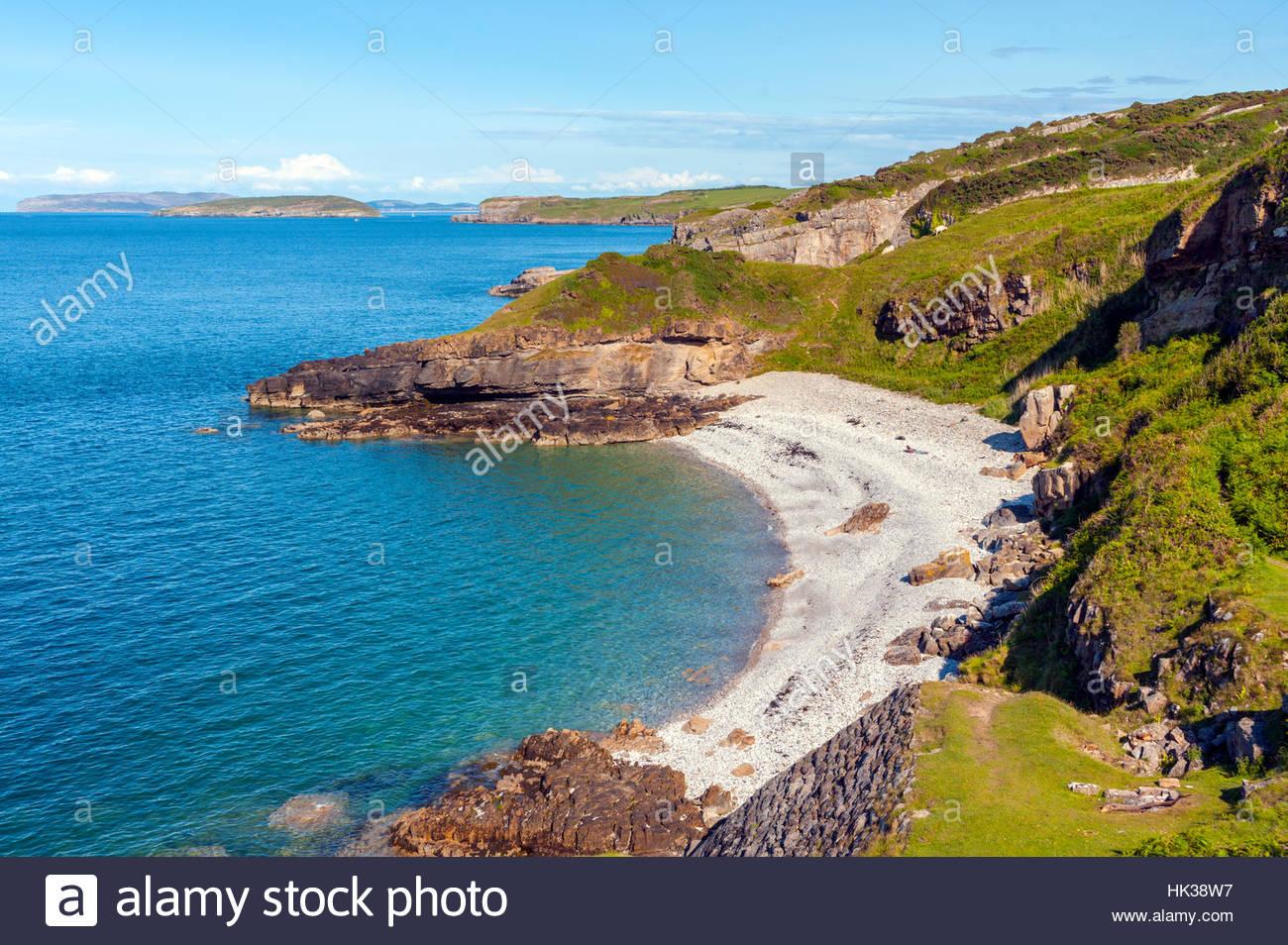 The beach and coastline near Seriol Anglesey Stock Photo