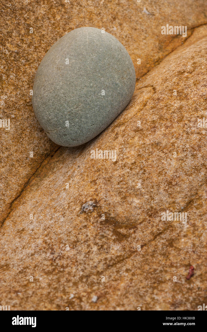 Pebbles and rocks on the beach at seriol annglesey Stock Photo