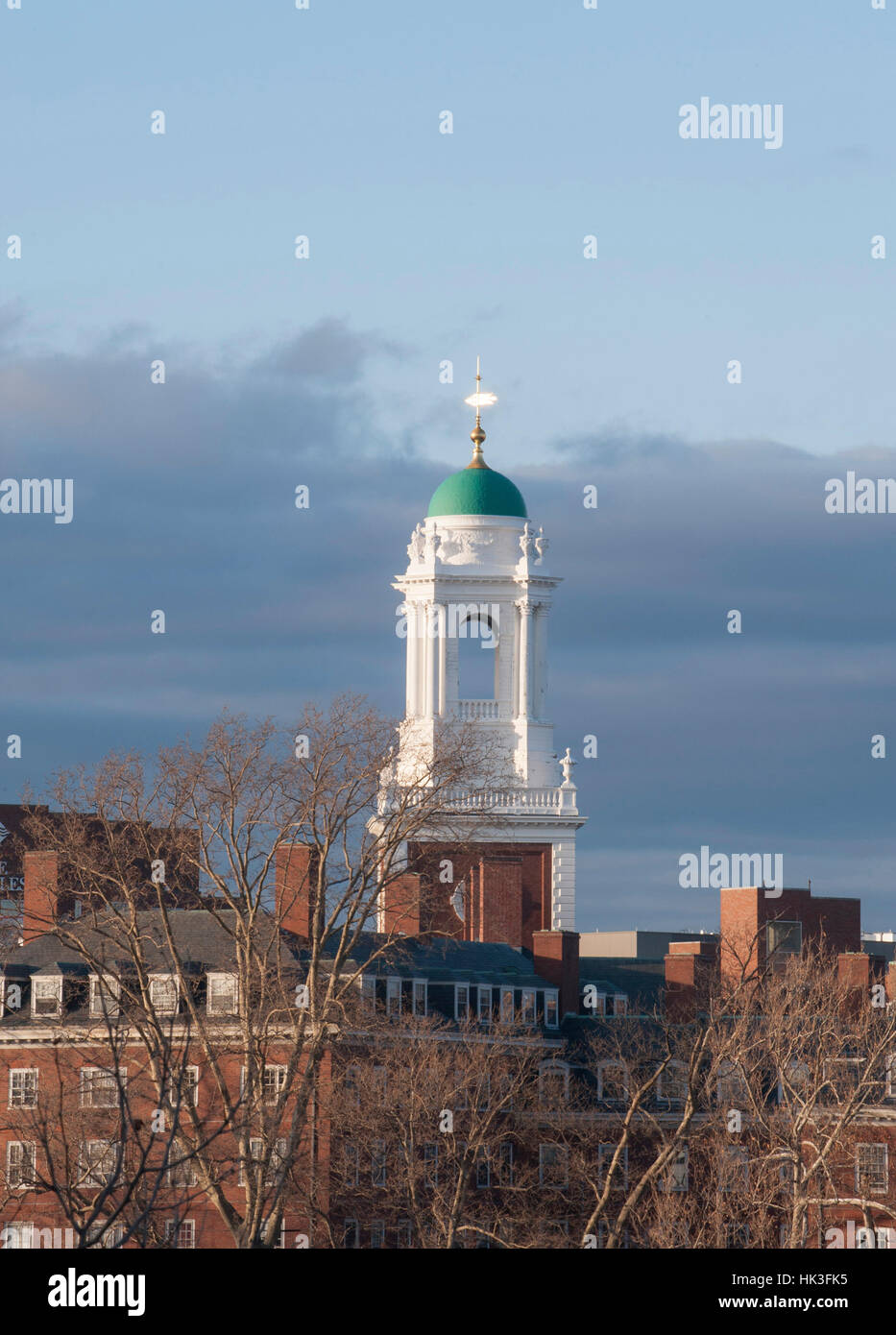 Eliot House bell tower in Harvard University, Cambridge, Massachusetts - Stock Image