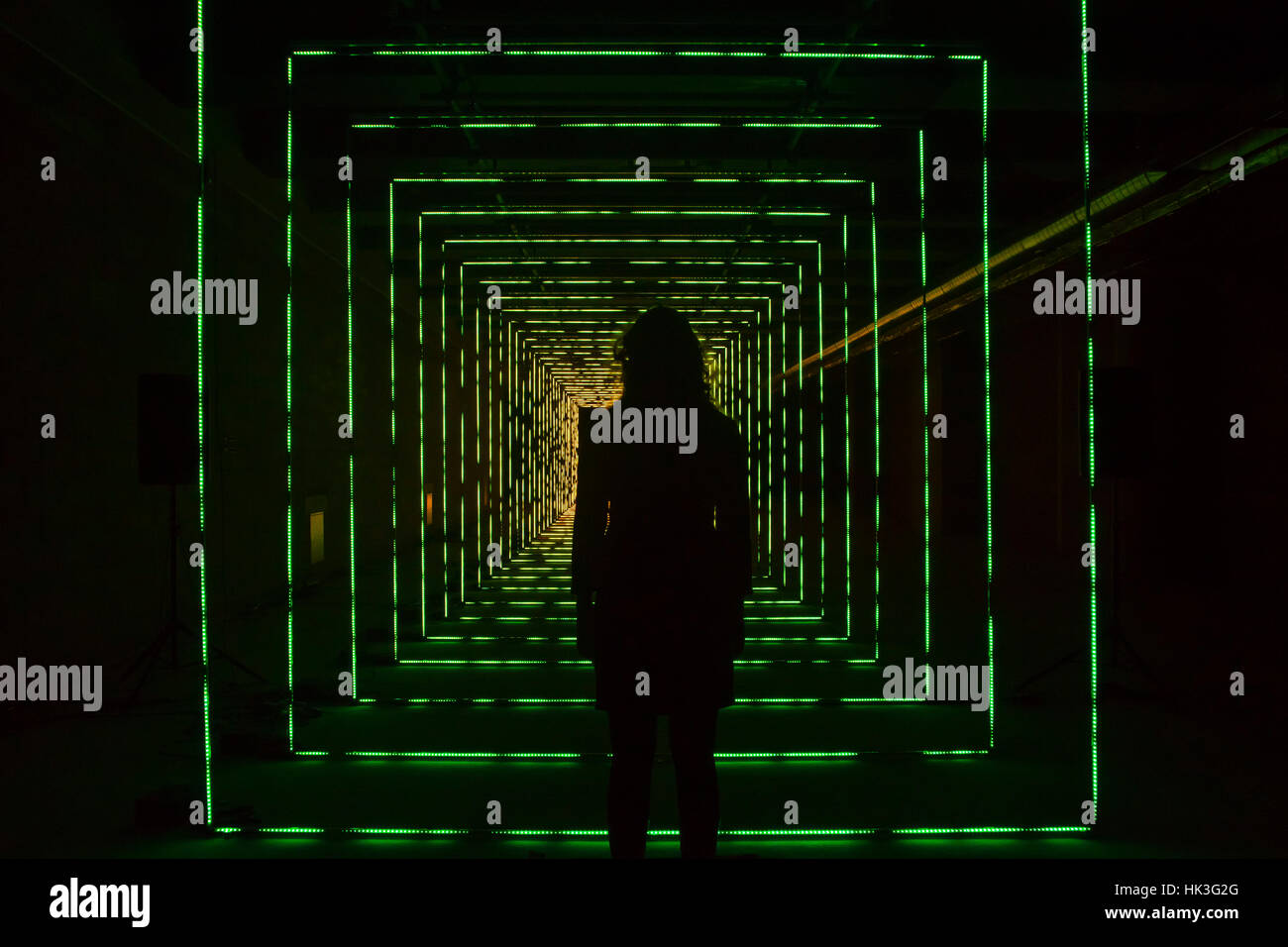 London, UK. 25th Jan, 2017. On Your Wavelenghts isan interactive light sculpture and music installation, part of - Stock Image