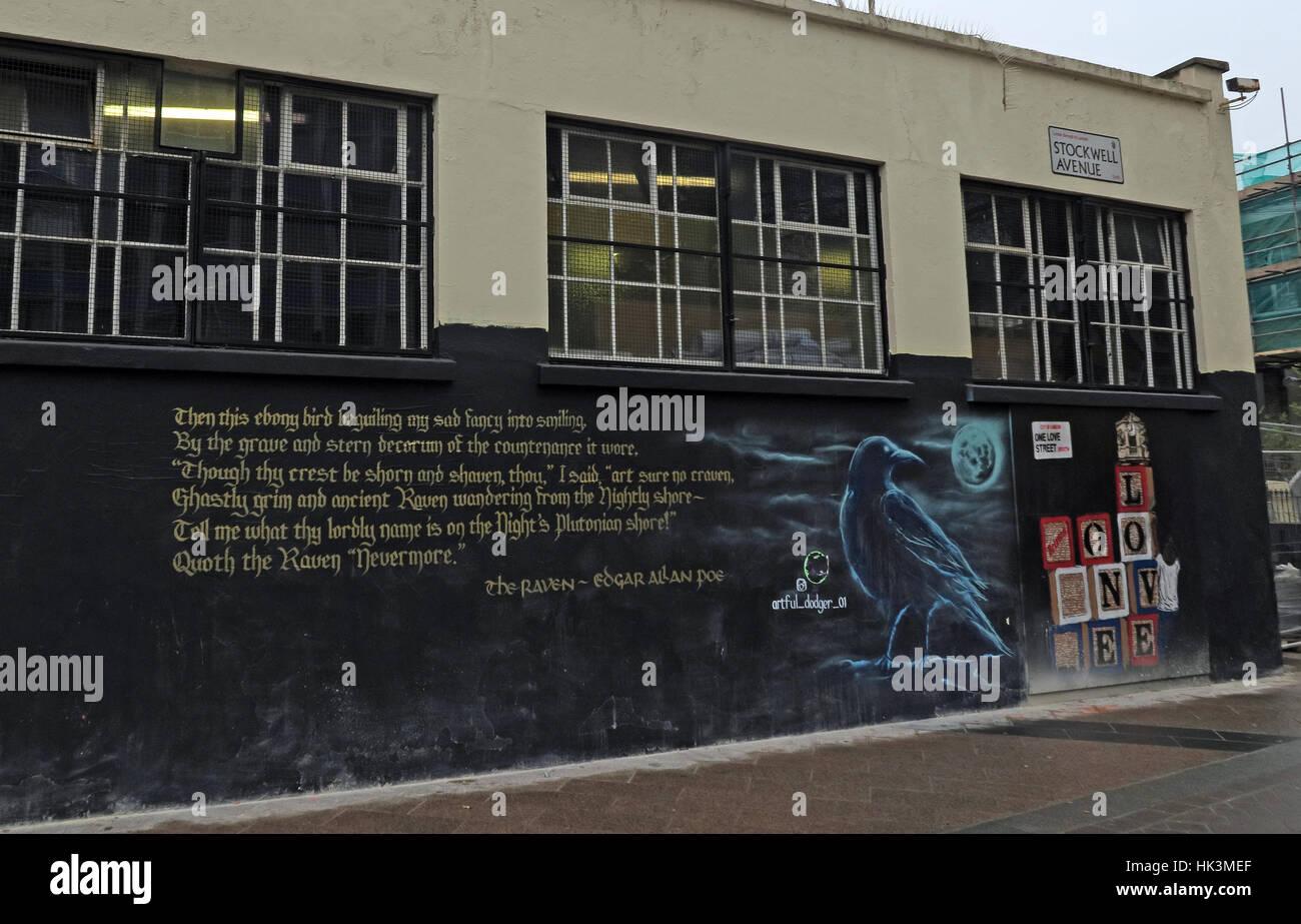 Street art in Brixton London, England, UK - Stock Image