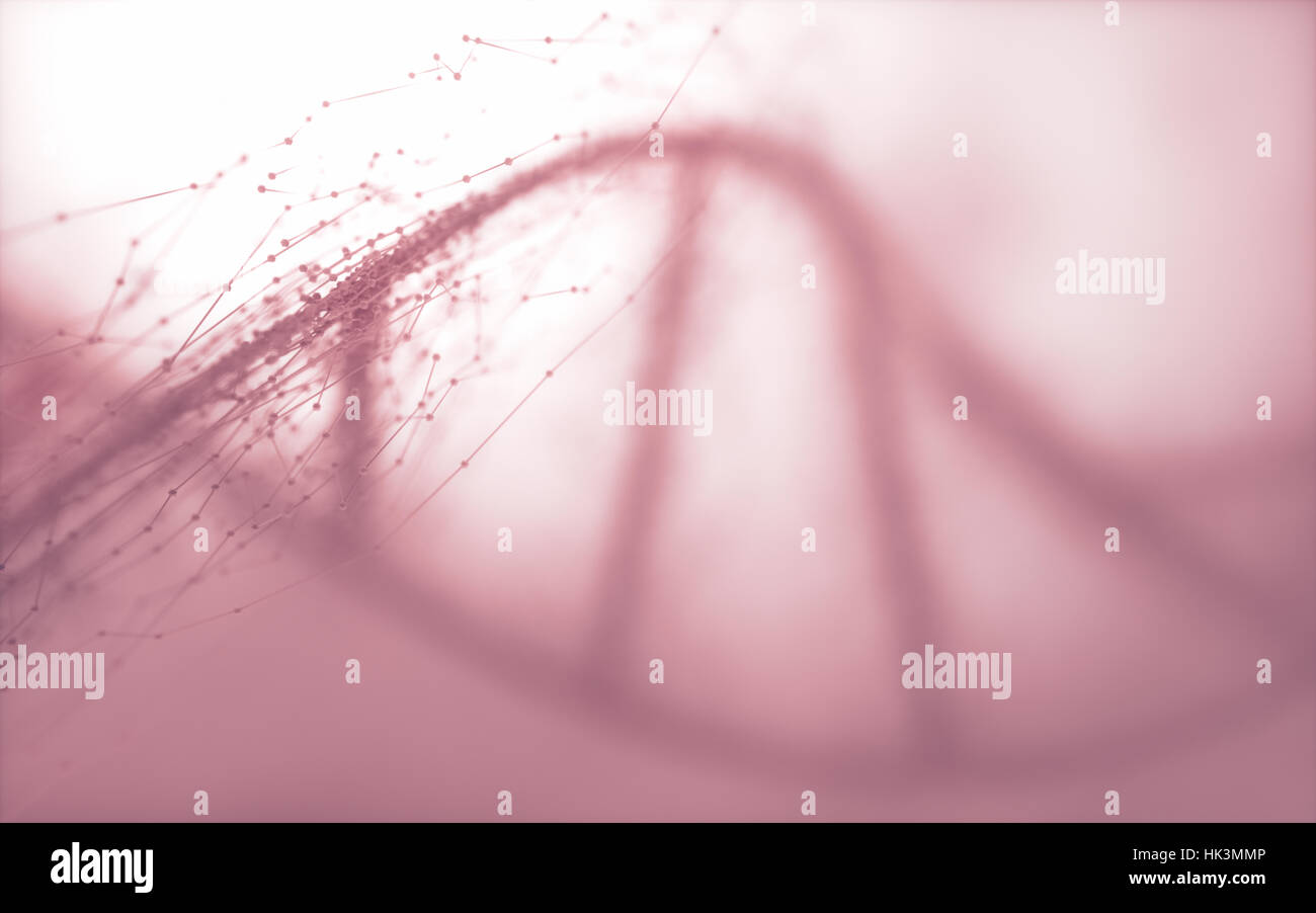 Deoxyribonucleic acid (DNA), molecule that carries the genetic instructions of the development, functioning and - Stock Image