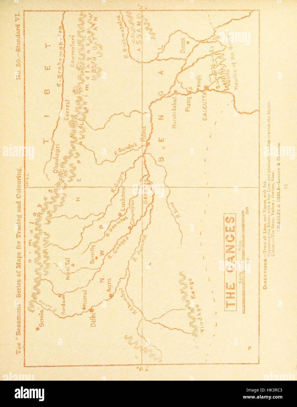 """Image taken from page 167 of 'The """"Beaumont"""" Geography and Map Tracing Book' Image taken from page 167 of - Stock Image"""