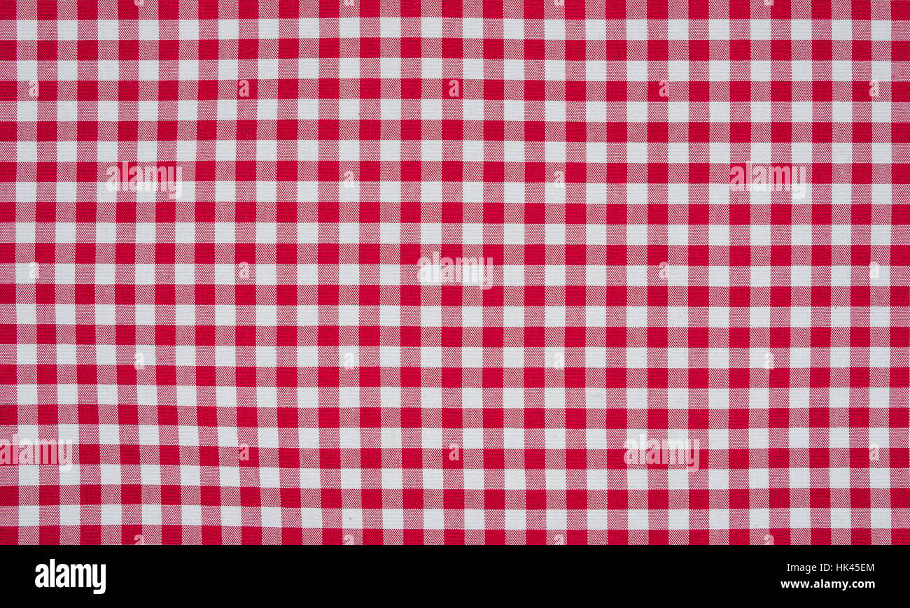 Red White Checkered Tablecloth