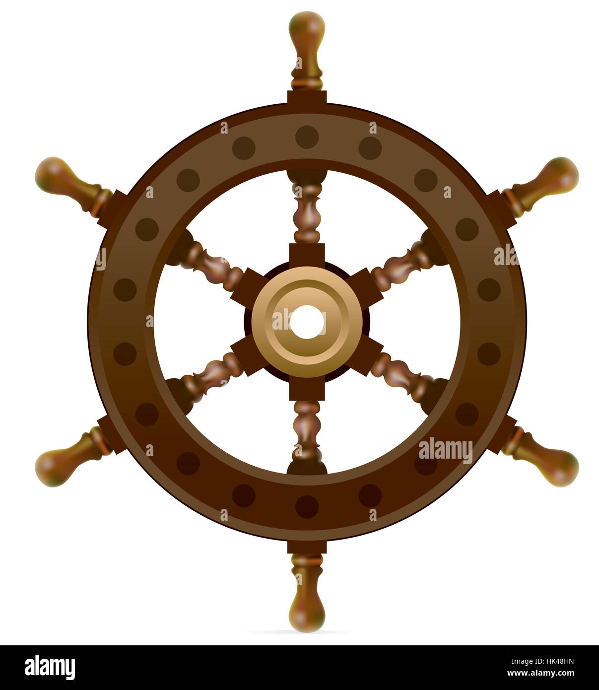 Object Travel Isolated Colour Wheel Navy Wood Antique Brown