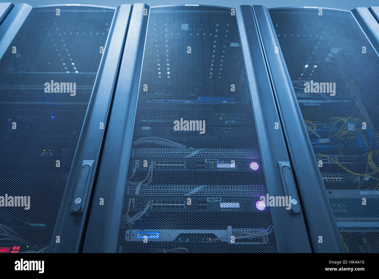 Server Rack With LED Indictor Inside - Stock Image