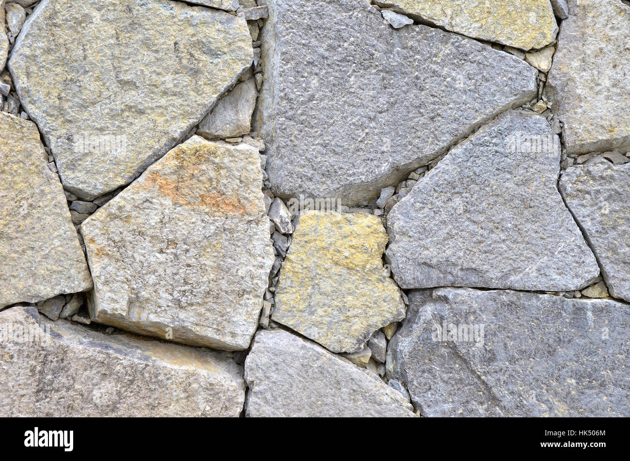 stones and fragments of granite - Stock Image