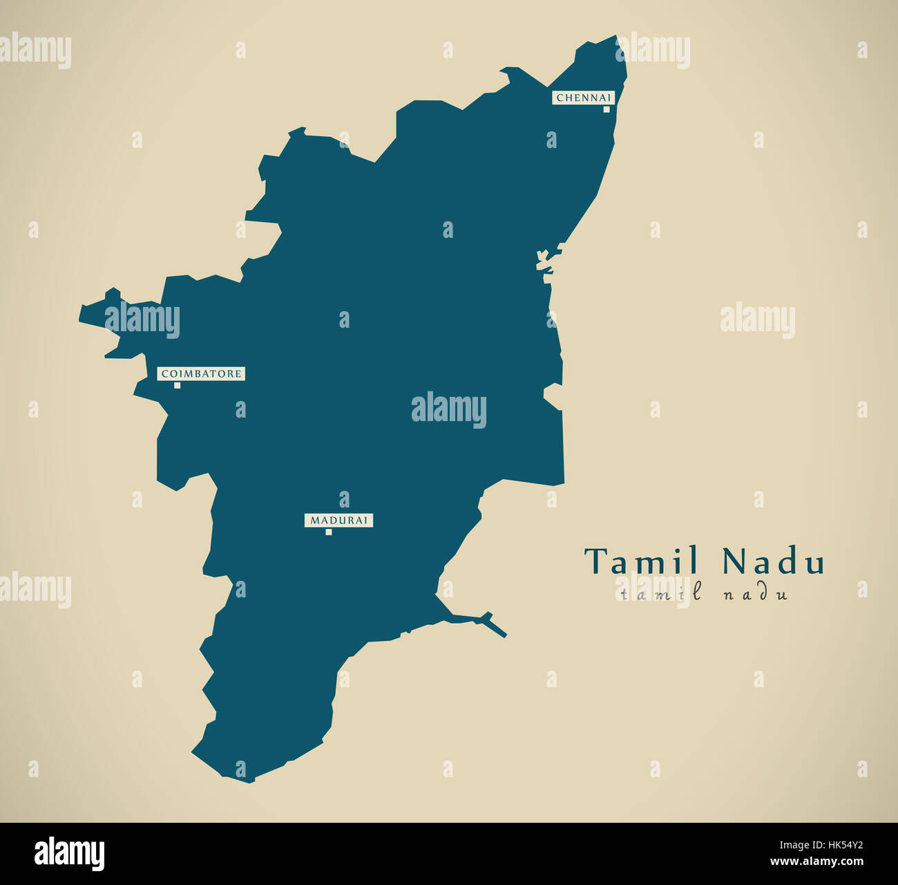Modern map tamil nadu in india federal state illustration stock modern map tamil nadu in india federal state illustration silhouette gumiabroncs Choice Image
